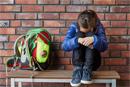 Stress bei Schülern - depressives Mädchen