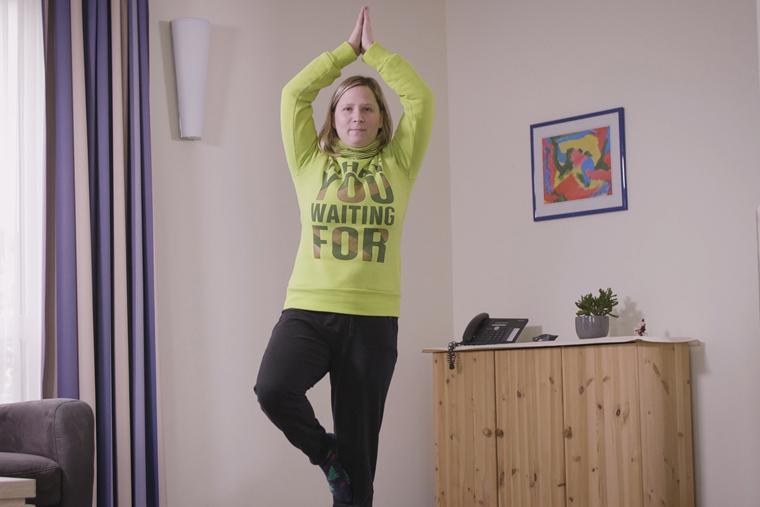 Eine mögliche Form der Bewegung im Alltag: Yoga.