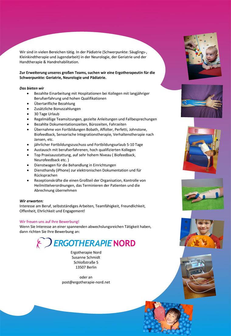Ergotherapie, Ergotherapeutin mit Schwerpunkten Geriatrie, Neurologie & Pädiatrie, Ergotherapie Nord, Susanne Schmidt, Berlin