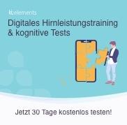 ki:elements - Digitales Hirnleistungstraining & kognitive Tests. Jetzt 30 Tage kostenlos testen!