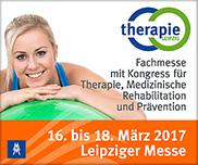 therapie leipzig - Fachmesse mit Kongress für Therapie, Medizinische Rehabilitation und Prävention, 16. bis 18. März 2017, Leipziger Messe